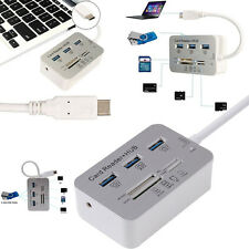 """7 in1 Type-C USB3.1 to USB 3.0 HUB MS M2 SD TF Card Reader Hub For Macbook 12"""""""