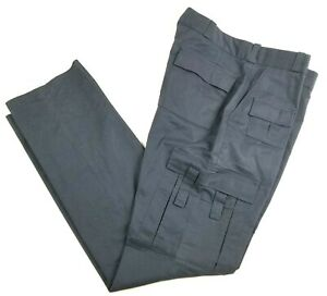 Hercules Mens Navy Uniform Pants/Trousers/Slacks w/Cargo Pockets Police EMT EMS