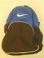 Blue Black Nike Men's Backpack 100% Polyester Preowned White Swoosh Fast Ship