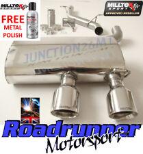 Milltek GOLF R32 MK5 Exhaust Stainless Non Res System LOUDER GT100 SSXVW133