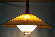 Teakholz Lampe Lampe Zuglampe mid century 50/60er Haengezuglampe plisseelampe