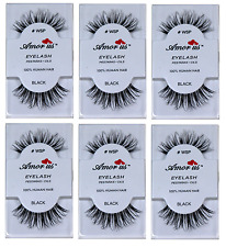 *SALE * # WSP 6 Pack Amor Us 100% Human Hair False Eyelashes Compare Red Cherry