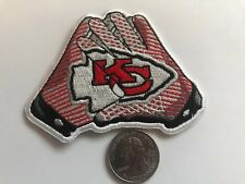 """Kansas City Chiefs vintage embroidered iron on logo patch 3.5"""" x 3"""""""