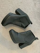 Topshop Blue/Grey Leather Ankle Boots Size 6/39