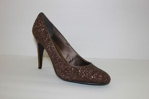 Nine West Womens Size 10.5 M Metallic Bronze Silver Pieces Pumps High Heel Shoe