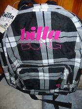 NWT Billabong Plaid Backpack Book Bag, Laptop, School, Skate, Surf !!