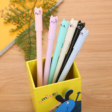 Cute Cartoon Cat Emoji Plastic Gel Pens for School Stationary Office Gifts