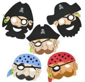 12 Foam Pirate Masks Hats Great For Halloween Birthdays School Plays