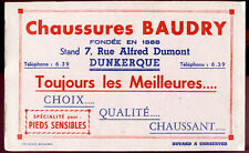 ANCIEN BUVARD CHAUSSURES BAUDRY - DUNKERQUE