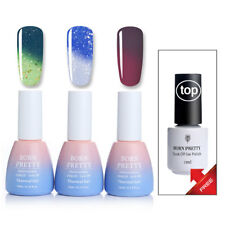Buy 3 Get 1 Gift Winter Nail Art Glitter Thermal Uv Gel Polish Free Top Coat Diy