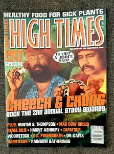 VINTAGE HIGH TIMES MAGAZINE 7/2001 CHEECH & CHONG, WOODSTOCK HASH BASH, ZAPATOUR
