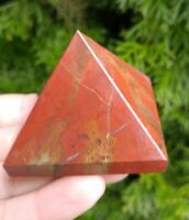 "2"" RED JASPER Pyramid Root Chakra Crystal B3 Stone Reiki Charged 4.3oz"
