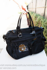 BNWT MIMCO Lucid Turnlock Baby Bag Dipper Nappy Shoulder Satchel Black Gunmetal