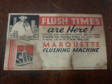 Vintage Postcard  Marquette Flushing Machine Advertising