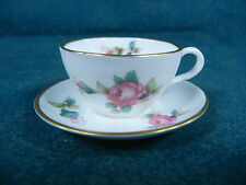 Spode Billingsley Rose Spray Bone China Miniature Mini Cup and Saucer Set