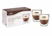 Aqualogis Double Wall Thermo Insulated Cappuccino Glass Mug 300ml - Pack of 2