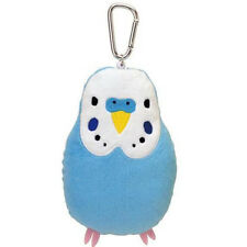 Soft and Downy Bird Stuffed Plush Type Card Case Holder (Budgerigars / Blue)