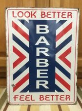 Barber Shop Vintage Style Sign Metal Oster Clipper Hair Nail Salon Polish