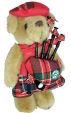 Millar Tartan Musical Teddy Bear Scottish Gift Made in Scotland