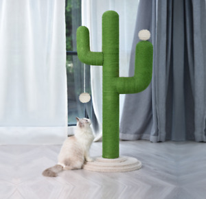 Cactus Cat Scratching Posts Pole Tree Gym Cando Climbing Scratcher Stand Toys
