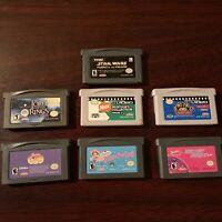 Lot Of 7 GameBoy Advance GBA Games Star Wars Lord Of The Rings Nicktoon See Pics