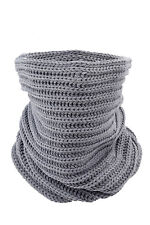 Grey Fashion Ly Knit Neck Circle Cowl Warmer Scarf Shawl Wrap Loop Winter