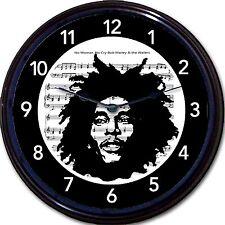 """Bob Marley Wailers Reggae Wall Clock No Woman No Cry Sheet Music 10"""""""