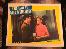 The Great Mr. Nobody 1941 Warner Brothers comedy lobby card Joan Leslie Eddie Al