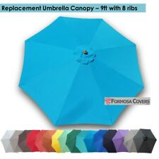 9ft Patio Garden Yard Market Replacement Umbrella Canopy Cover Top 8 Ribs Teal