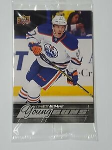2015 -16 UPPER DECK SERIES 1 CONNOR McDAVID YOUNG GUNS  #201 OVERSIZED (Sealed)