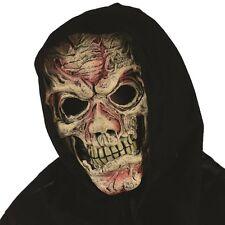 Vestito Per Halloween Cappuccio Pelle Maschera Di Zombie Orrore #93210 Nuovo