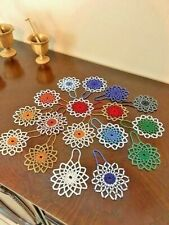 Handmade Christmas Crochet Beaded Ornaments 3