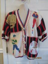 Vintage~BELLEPOINTE~Softball~Baseball~Sports~Sweater~Ugly Christmas~Oversized M