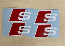 4x Audi Logo Aufkleber S-line Sport Sticker 50mm x 30mm Bremssattel A S Q 4 5 6