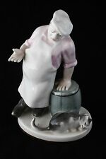 USSR Russia Porcelain Figurine Cook and Cat LFZ