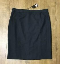 New Ladies Mix Black Casual / Office Long Autumn Pencil Skirt Size UK 16