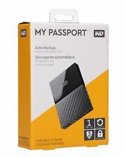 Western Digital My Passport  1TB USB 3.0 Portable External Hard Drive Black