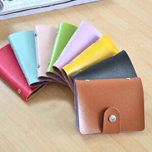 24 Cards Slim PU Leather ID Credit Card Holder Pocket Case Purse Wallet Hold Up