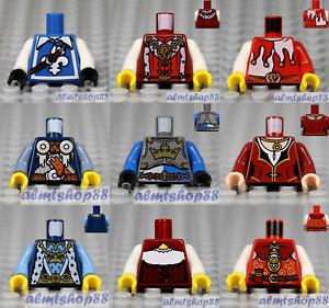 LEGO - 9x Minifigure Torsos Lot - Castle Kingdom Fantasy Era Body Parts #10c