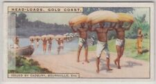 Cocoa Beans Carried By African Native On Heads 90+ Y/O Trade Ad Card