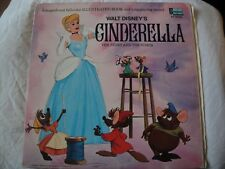 WALT DISNEY'S STORY AND THE SONGS FROM CINDERELLA VINYL LP 1969 BOOK AND RECORD