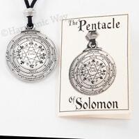 Pentacle of SOLOMON Necklace Amulet seal of Solomon Talisman Pendant 2 sided