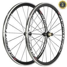 NEW 38MM Alloy Brake Surface Carbon Wheelset Superteam Wheels R36 Hub Road Bike