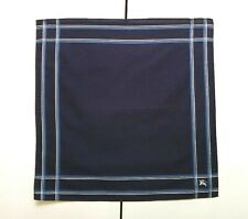 Burberry Bandana Pocket Square Mini Scarf Handkerchief Neckerchief Dark Blue *