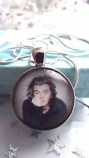 HARRY STYLES  ONE DIRECTION   SILVER PLATED 22 INCH  NECKLACE    GIFT BOXED