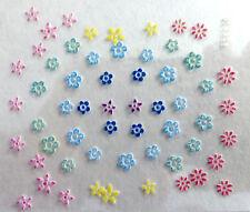 Accessoire ongles : nail art - Stickers autocollants - fleurs multicolores