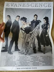 Evanescence 2018 Tour Poster