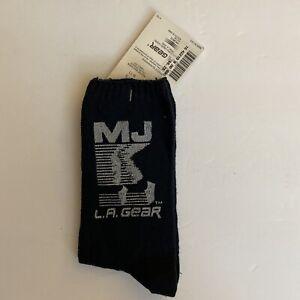 Michael Jackson Official 1990 L.A. Gear New Socks (Black) NWT