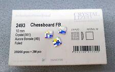 Swarovski Elements 2493 Chessboard Crystal AB Aurore Boreale 10mm OVP 288 Stück!
