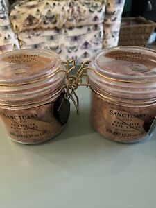 2  X Sanctuary Spa Bath Salts Rose Gold Radiance Exquisite Natural Mineral-Bnwt